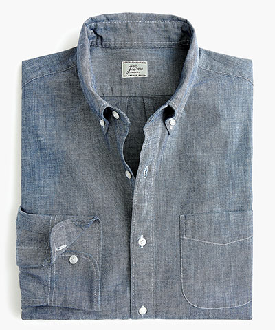 organic cotton chambray shirt jcrew deals