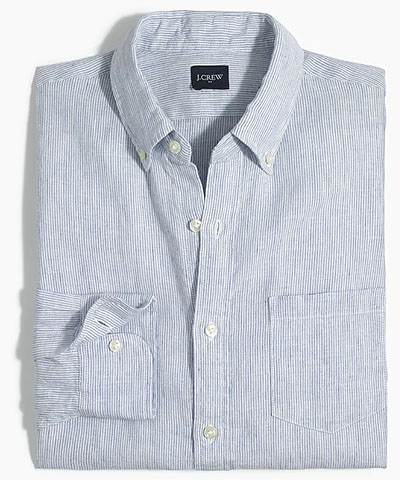 striped linen shirt jcrew factory deals
