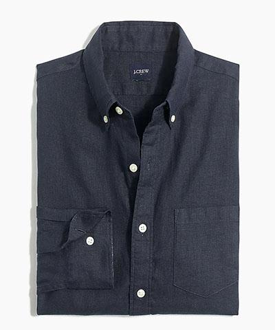 slim linen cotton shirt jcrew factory deals
