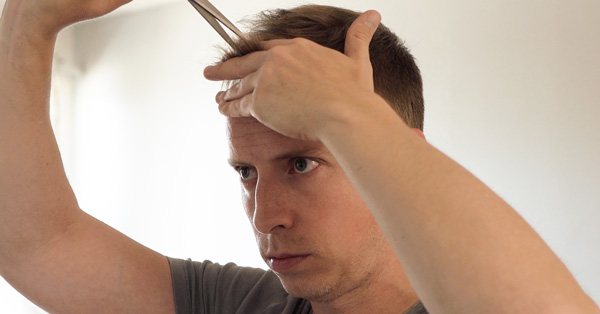 how to cut hair with scissors