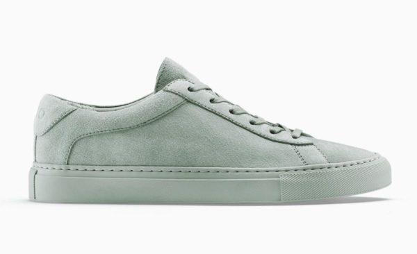 koio capri green low top sneaker