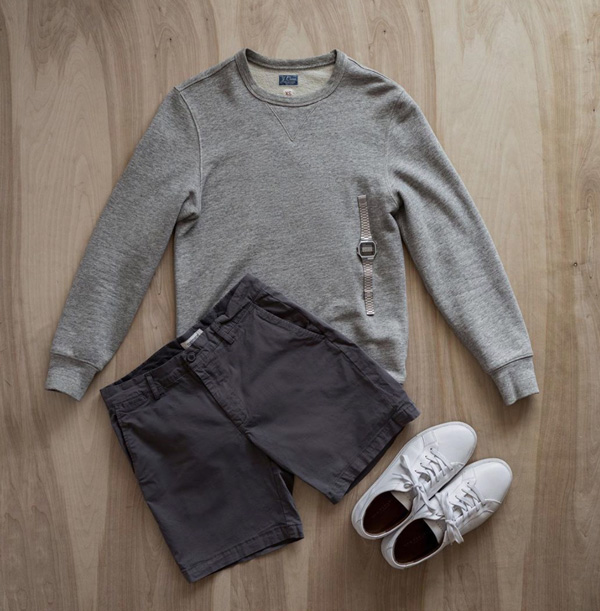 men summer outfit flatlay