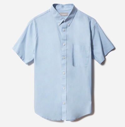 everlane short sleeve oxford