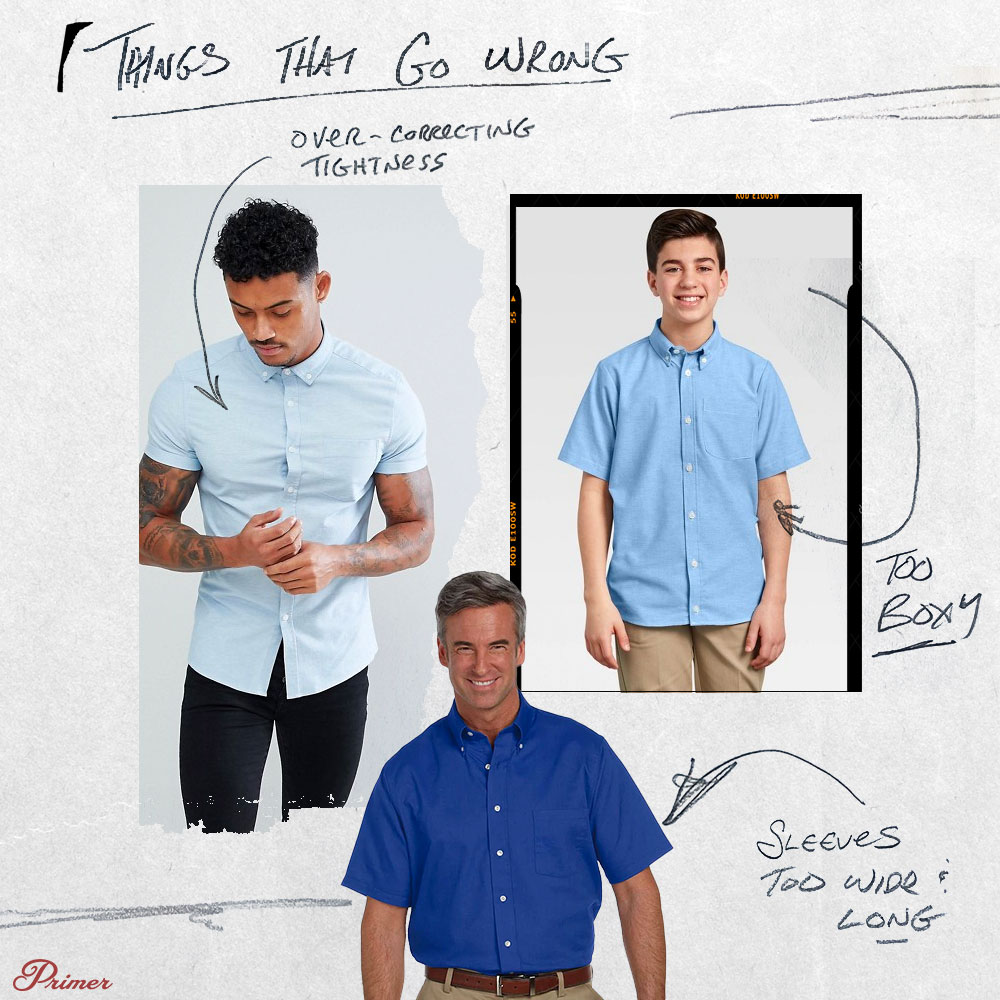 short sleeve button up shirt mistakes