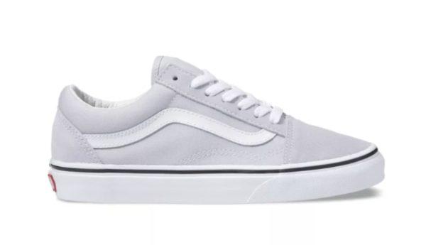 grey and white vans old skool low top sneaker