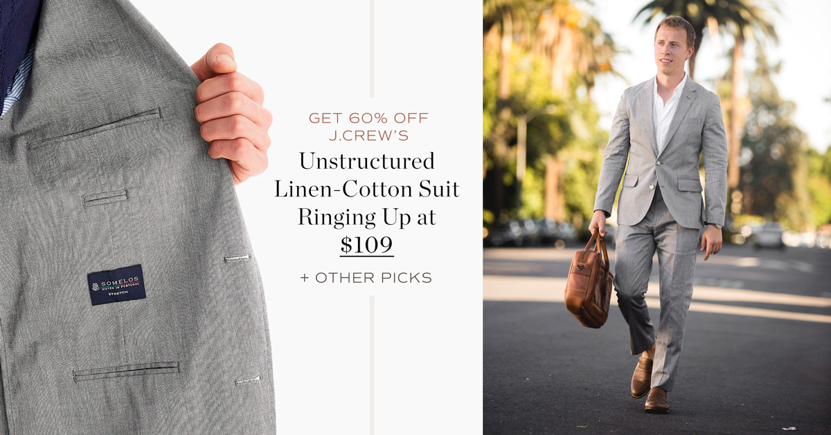 Get 60% Off J.Crew's Unstructured Linen-Cotton Suit Ringing Up at $109 + More Picks
