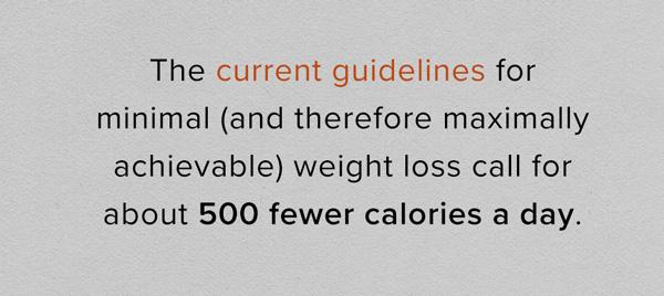 calorie cutting per day