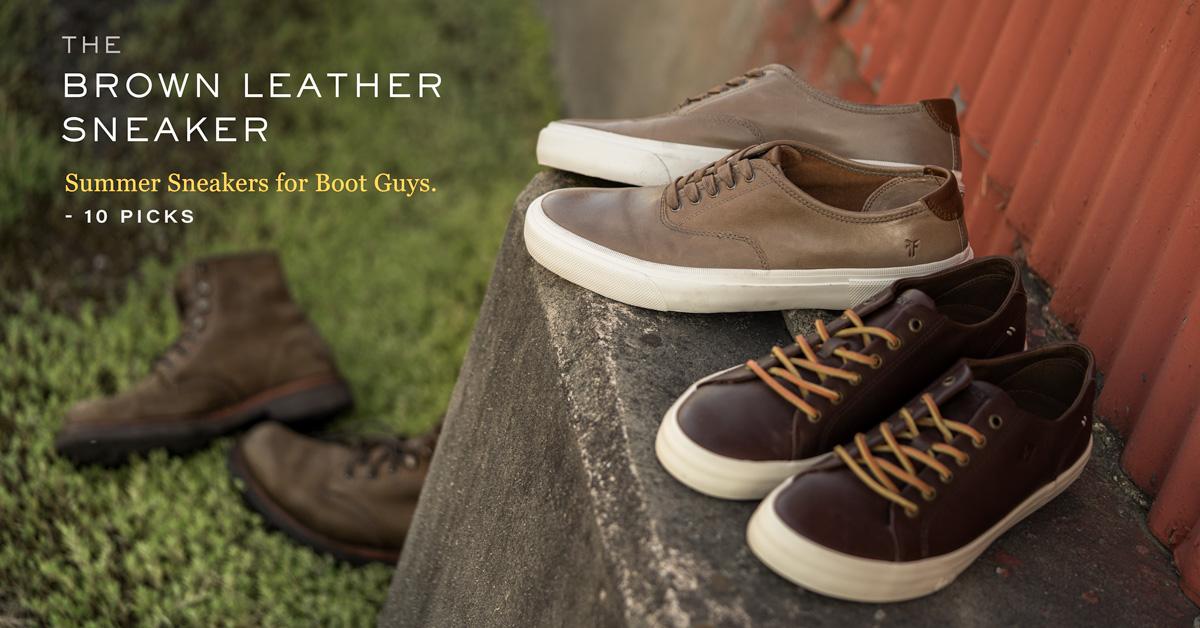 brown leather sneakers men best 10 picks