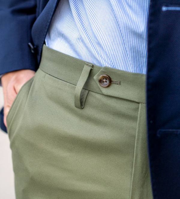 no belt dress pants tab button