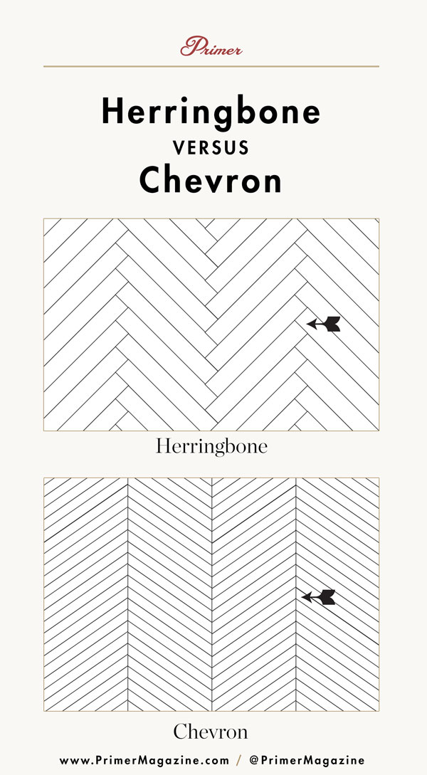 herringbone vs chevron pattern