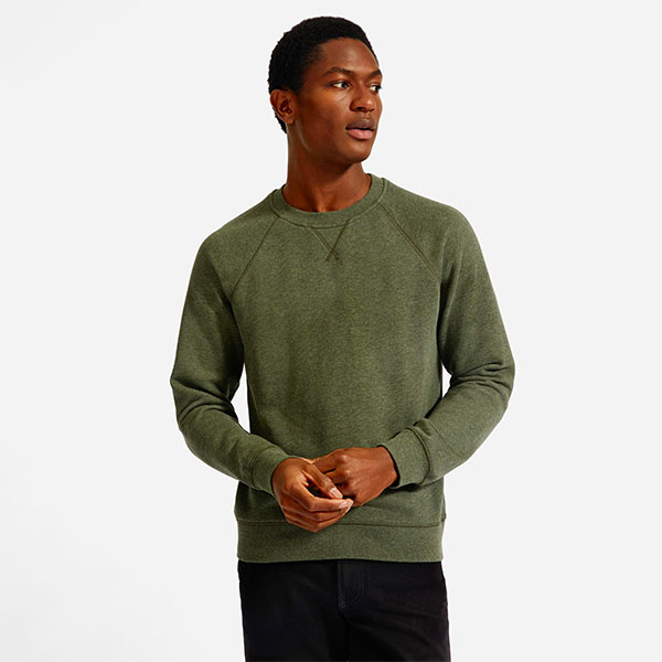 lightweight french terry crew everlane sale