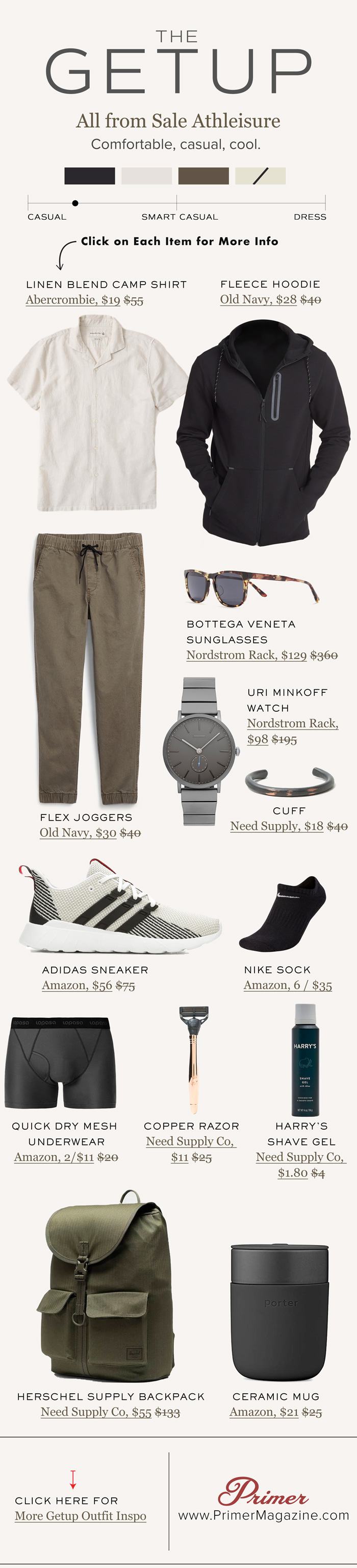 men summer athleisure fashion outfit the getup