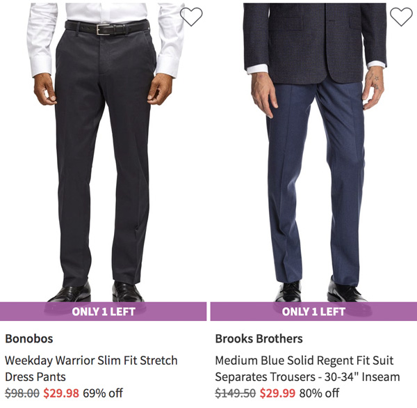 nordstrom rack bonobos and brooks brothers dress pants