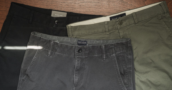 chinos in different colors