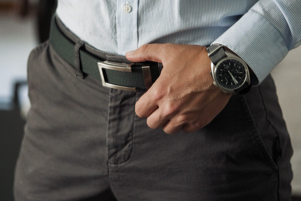 canvas belt business casual