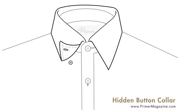 hidden button collar