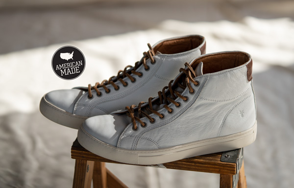 frye sneaker high top usa made