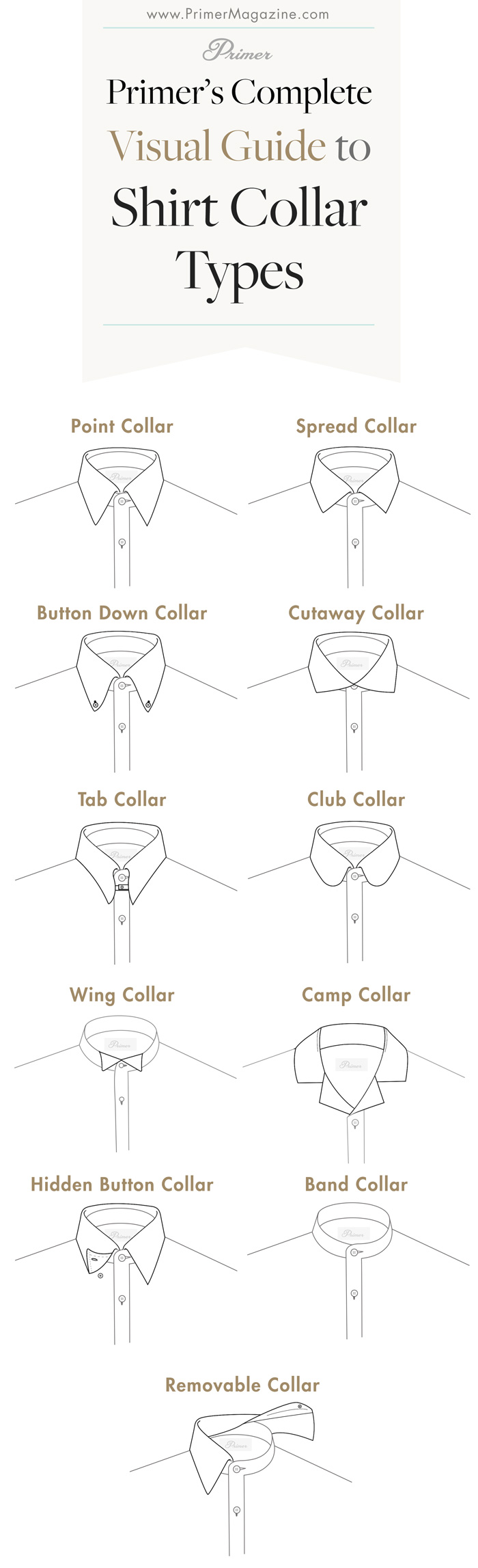 shirt collar types