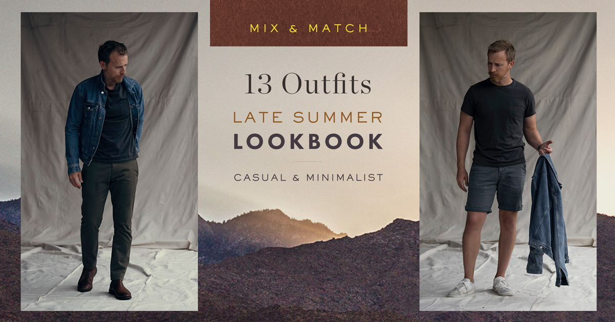 Mix & Match: Late Summer Casual and Minimalist Lookbook [13 Outfit Combos]