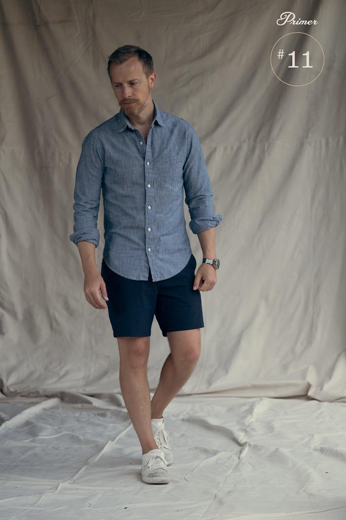 camisa de cambraia com shorts