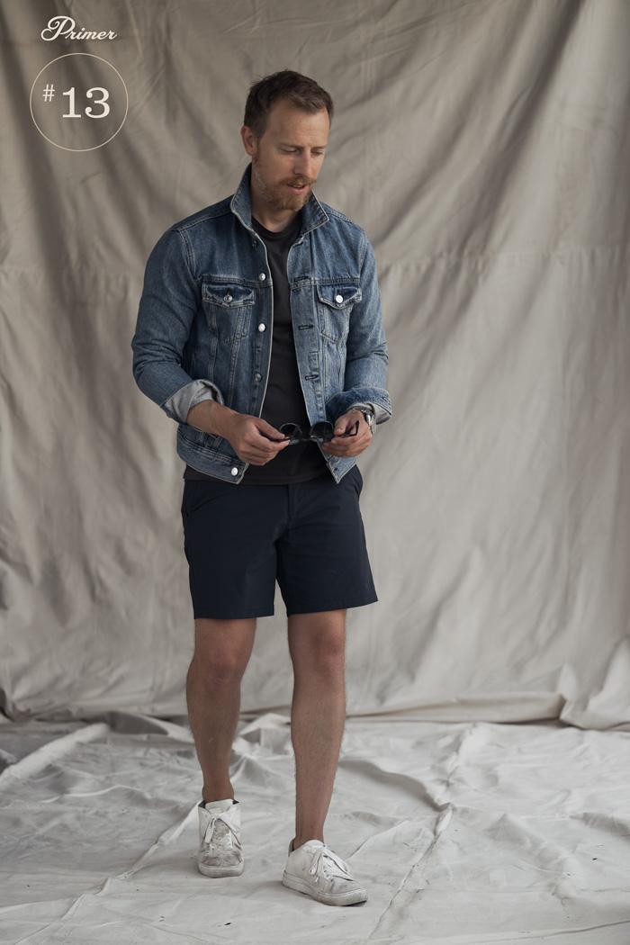 jaqueta jeans de verão shorts masculinos