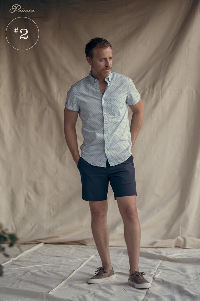 short de verão masculino manga curta roupa de botão