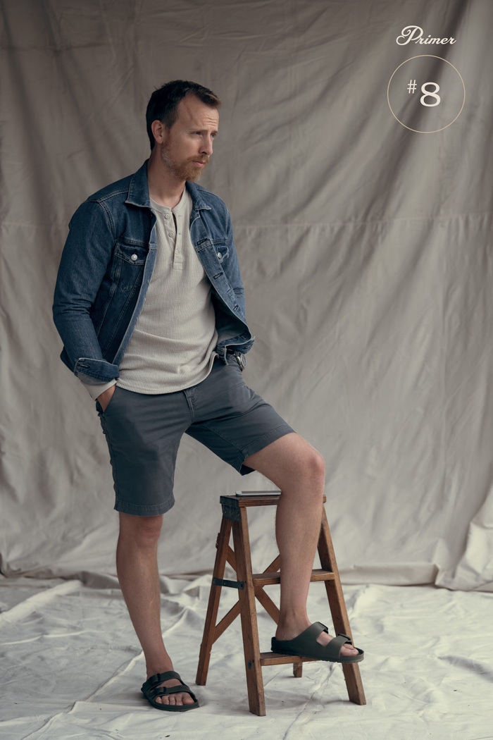 jaqueta jeans com shorts ideias de moda verão