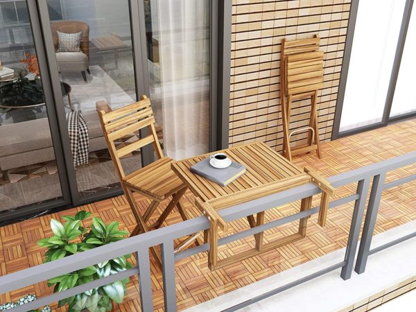 acacia hardwood balcony interlocking tiles balcony makeover
