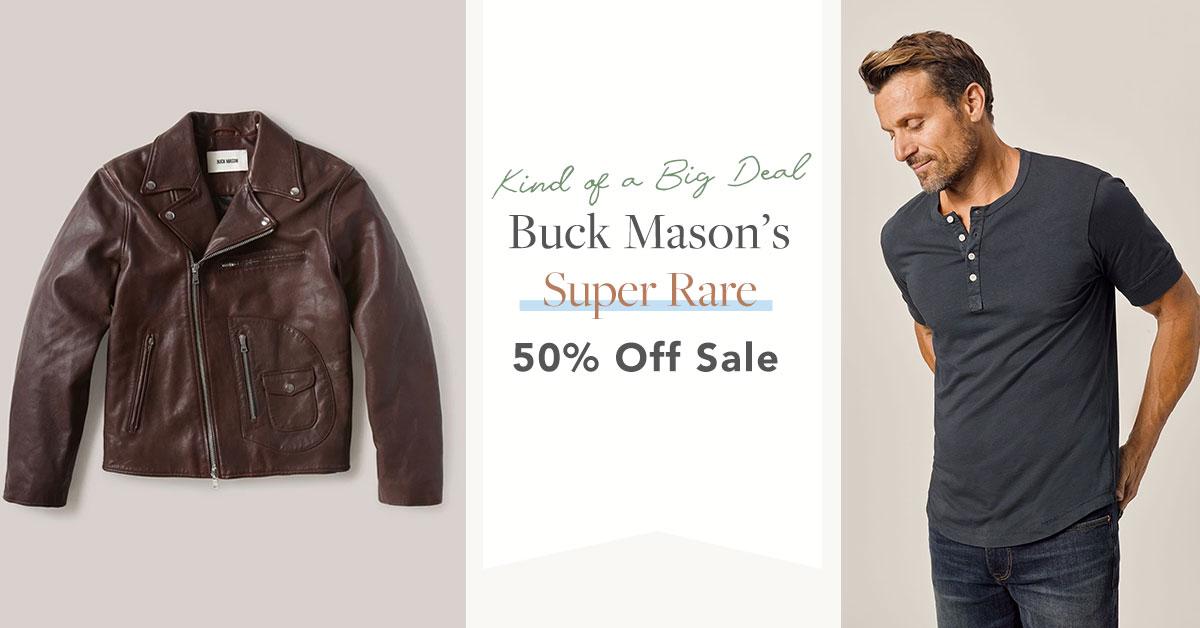 Buck Mason's Super Rare 50% off Sale