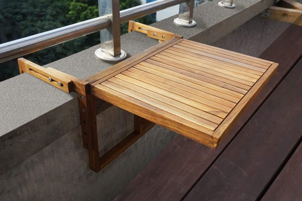 folding table balcony makeover