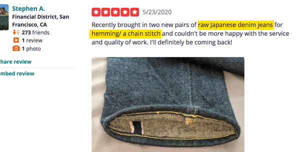 how to find a denim tailor review