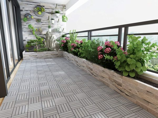interlocking floor tiles balcony makeover