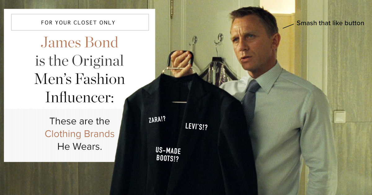 These are the Clothing Brands James Bond Wears: Levi's!? Zara!? US-Made Boots!?