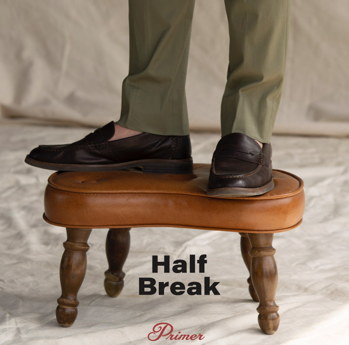 half break pants hem