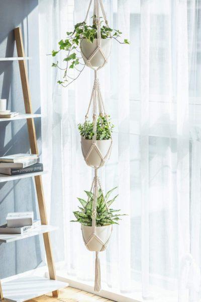 plant hanger balcony makeover