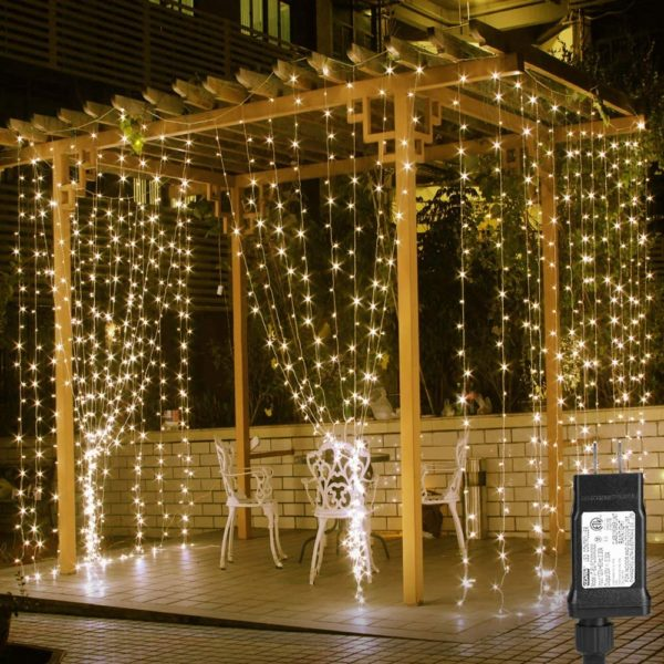 string lights fairy balcony makeover