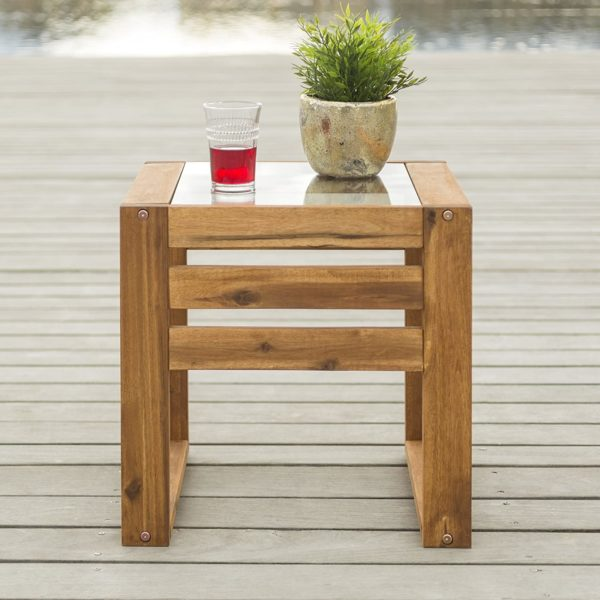 wood-glass-end-table-balcony-makeover