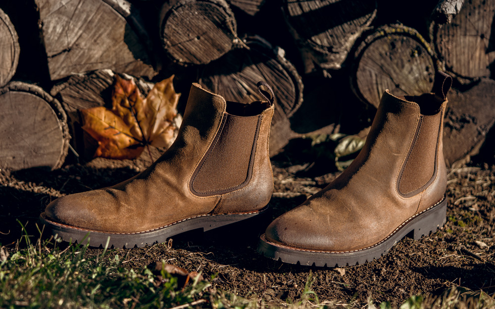chunky brown chelsea boots