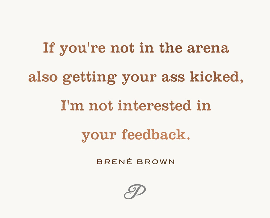 man in the arena brene brown quote
