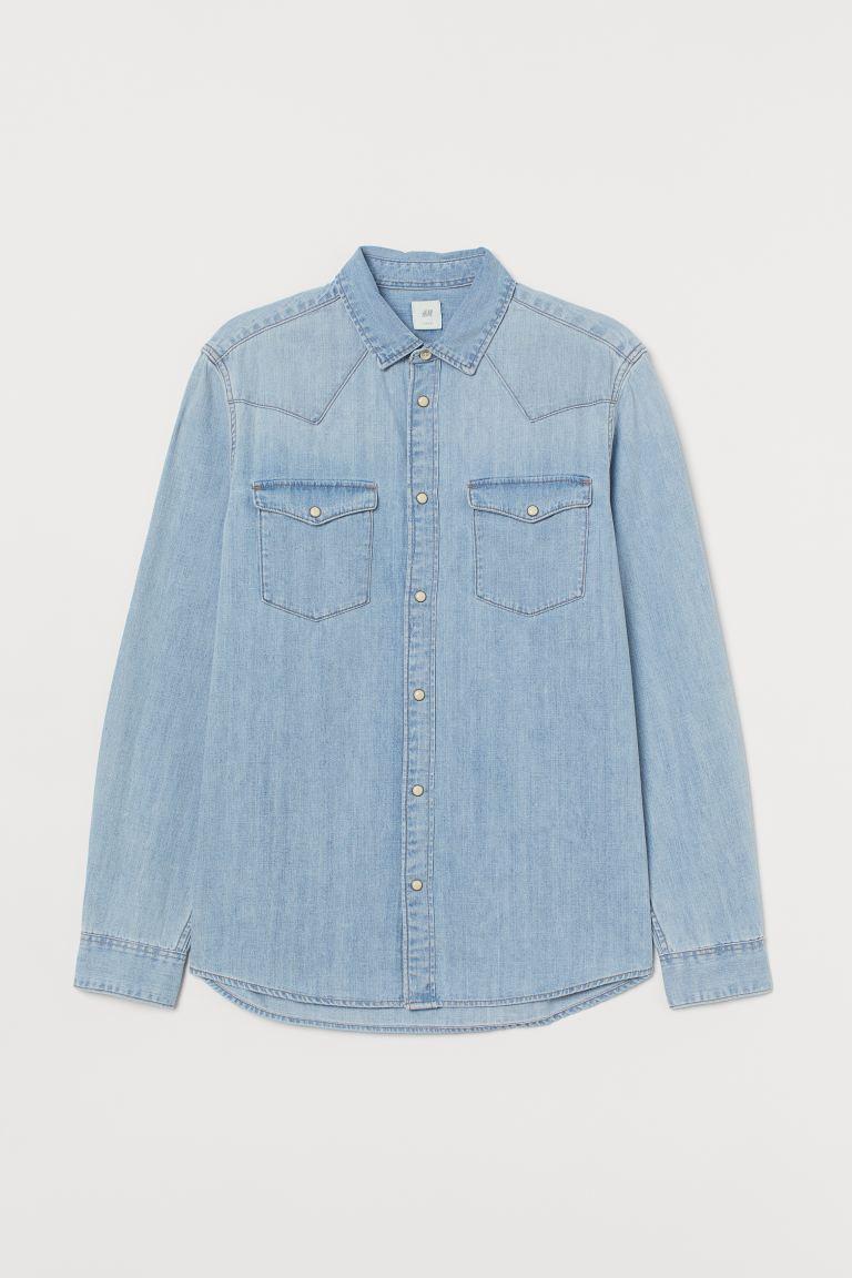 cotton-denim-shirt-hm