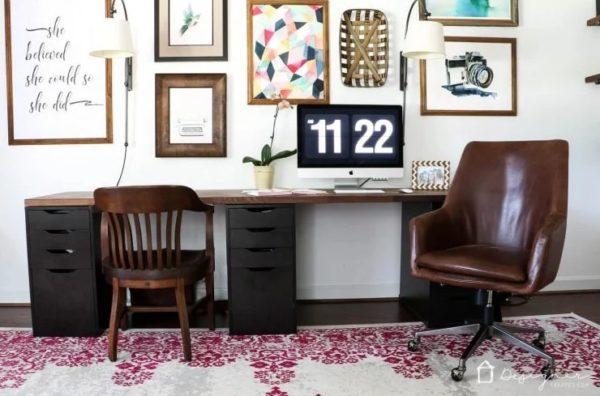 designer ikea desk hack