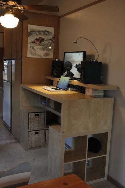 expedit standing desk ikea desk hack