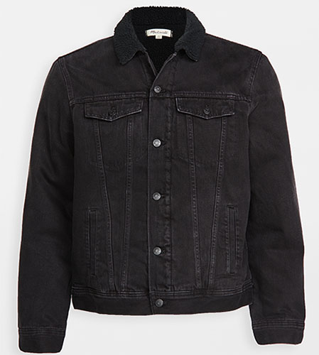 east dane sherpa lined denim jacket