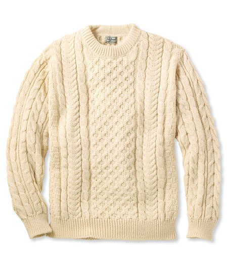llbean fisherman sweater high low