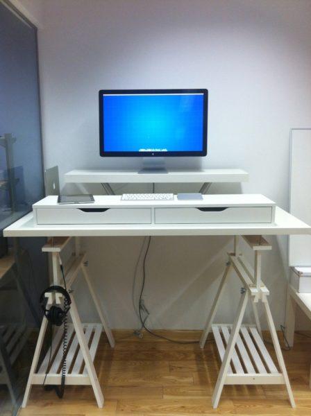 nick wynja standing desk ikea desk hack