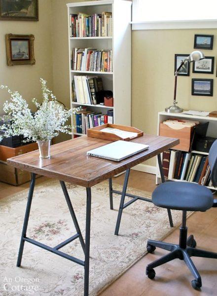 oregon cottage ikea desk hack