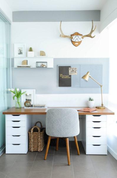 shift interiors ikea desk hack
