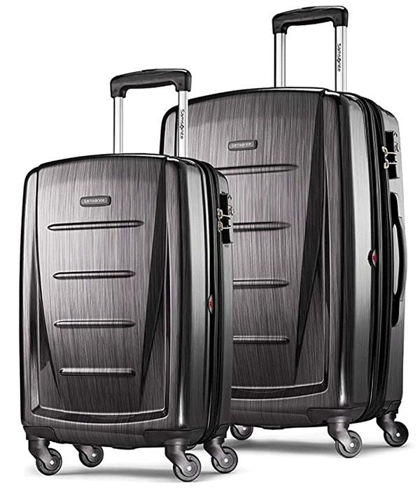 Samsonite hard shell rolling luggage set of 2