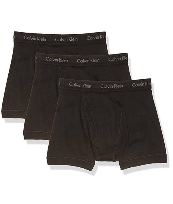 Calvin Klein men's black boxer briefs set of 3