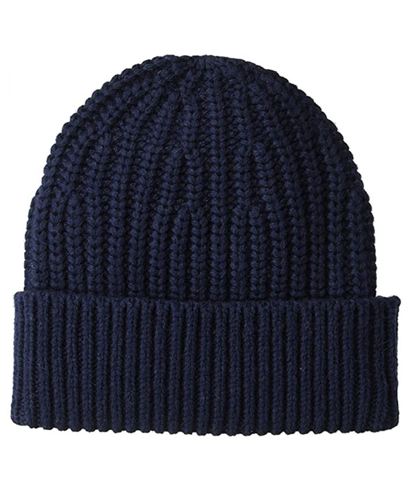 men's marled black beanie from goodthreads